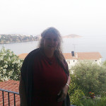 On the veranda of Villa Ella